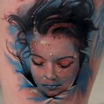 fantasy design of tattoo portrait