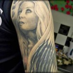 design of tattoo portrait