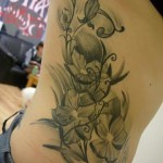 Flower tattoo for girls