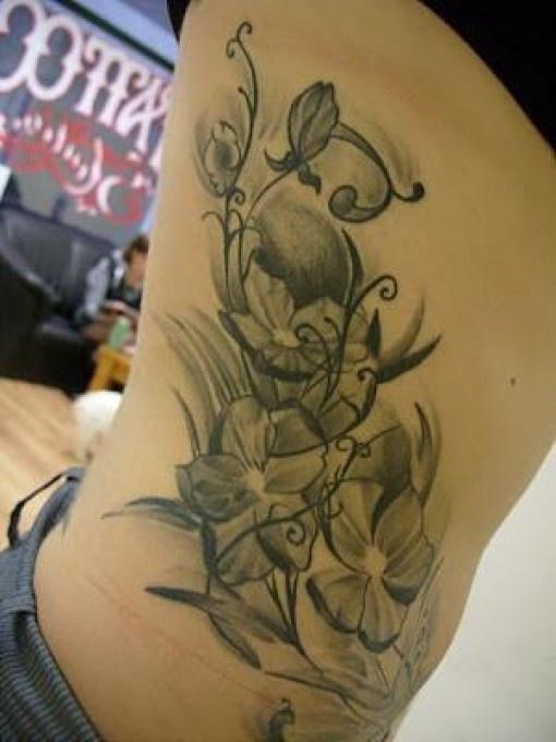 Flower tattoo for girls