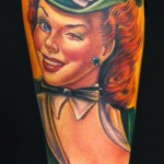 Pin-up-design-of-Tattoos-clover