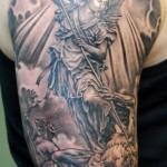 Tattoo of st michael archangel