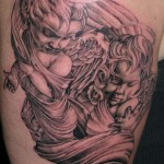 cupid angel tattoo design