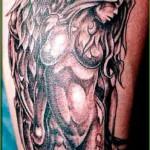 Sexy angel tattoo design