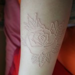 White rose tattoo design