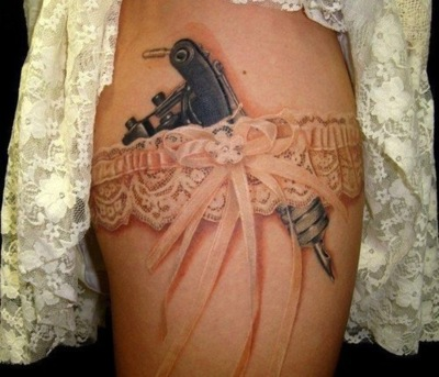 Best garter tattoo for girls