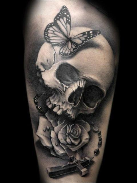 butterfly skull cross rose tattoo design of tattoosdesign of tattoos rh designoftattoos com skull butterfly tattoos women butterfly skull tattoo old school