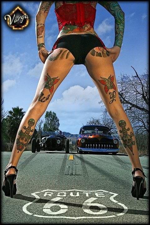 66 skull tattoo