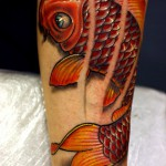 Lovely koi tattoo