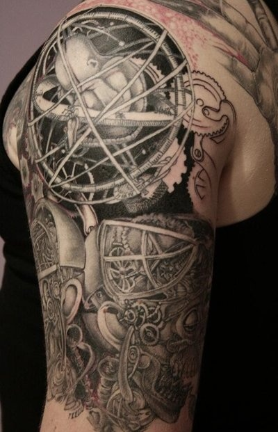 astrology_steampunk_tattoo