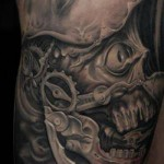 skull tattoo steampunk inspired