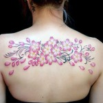 Cherry Blossom Tattoo on the Back