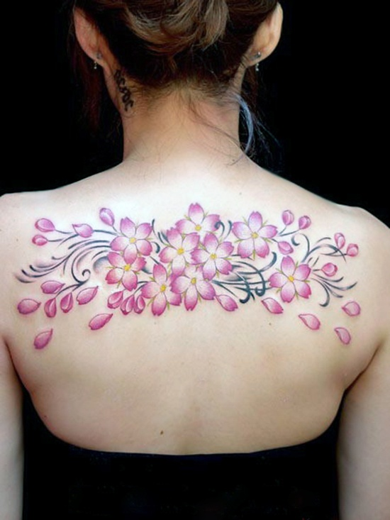 Cherry Blossom Tattoo Designs Black And White Cherry Blossom Tattoo Design