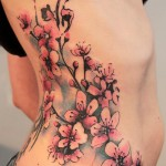 Cherry Blossom Tattoo on side
