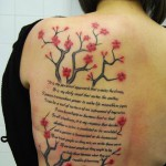 Cherry Blossom Tattoo and Text