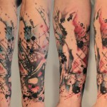 Sleeve abstract tattoo