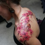 Cherry Blossom Tattoo Beautiful on Sholder