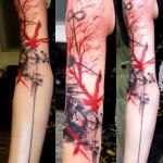 Sleeve abstract tattoo