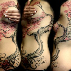 On of the Best Cherry Blossom Tattoo