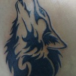Abstract Wolf Tattoo