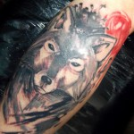 Great Abstract Wolf Tattoo