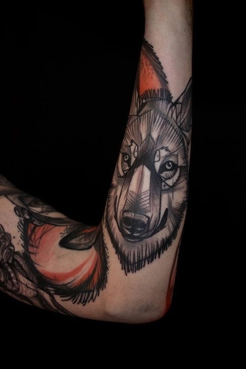 Arm Cool Wolf Tattoo