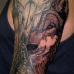 Gorgeous Wolf Tattoo by Maria Leoczko