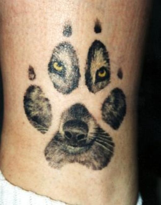 Pawn and Yellow Eyes Wolf Tattoo