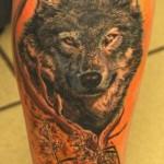 Realistic Wolf Tattoo