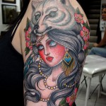 Woman Wolf Tattoos