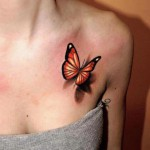 Butterfly Tattoo in 3D