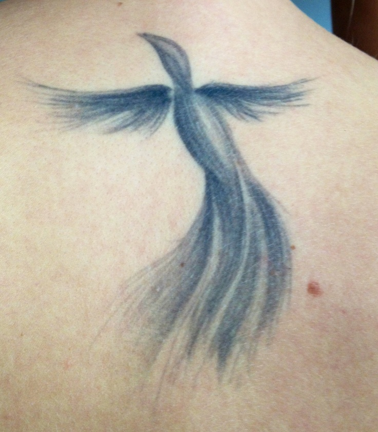 Low Neck Phoenix Tattoo