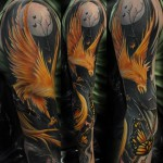 Best Phoenix Sleeve Tattoo