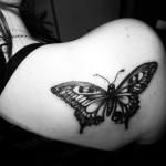 Black Butterfly Tattoo
