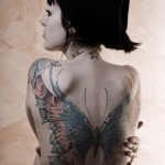 Butterfly Tattooed on the Whole Back