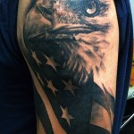 Sleeve Eagle Tattoo by David Allen