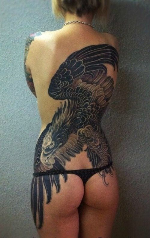 Full Back Eagle Tattoo