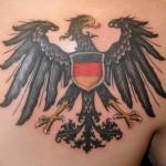 German Eagle Tattoo on Chest