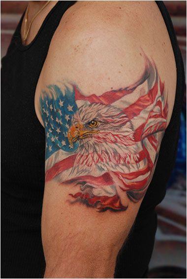 USA Flag Eagle Tattoo