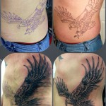 Eagle Tattoo on Ribs