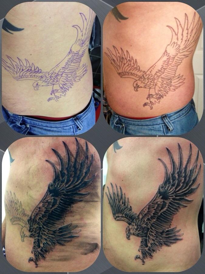 Eagle Tattoo on Ribs