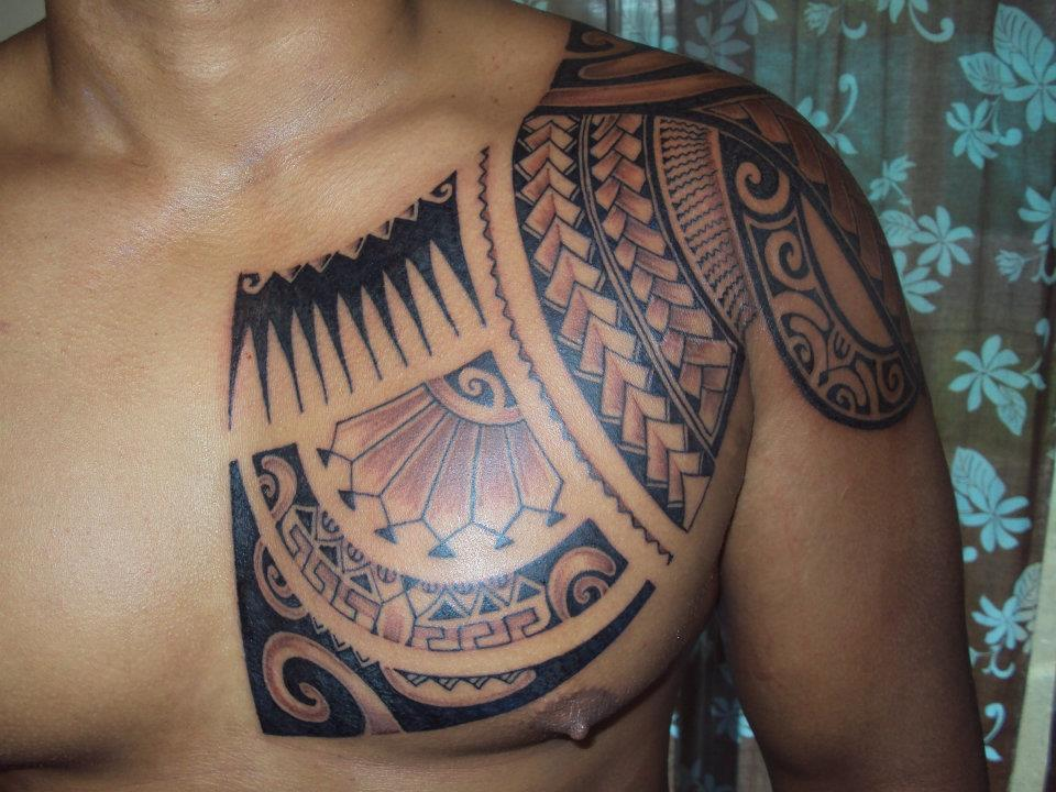Chest maori tattoo design of tattoosdesign of tattoos for Chest tattoo drawings