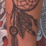 Dreamcatcher tattoo on arm