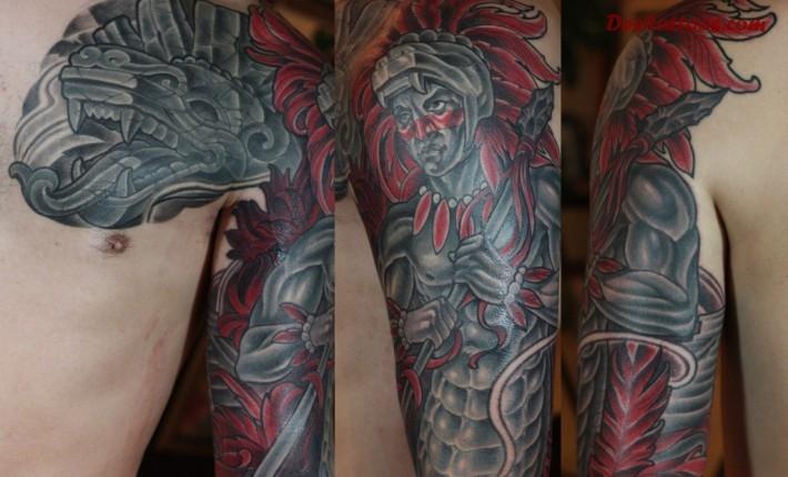 Aztec Tattoos full sleeve - Design of TattoosDesign of Tattoos