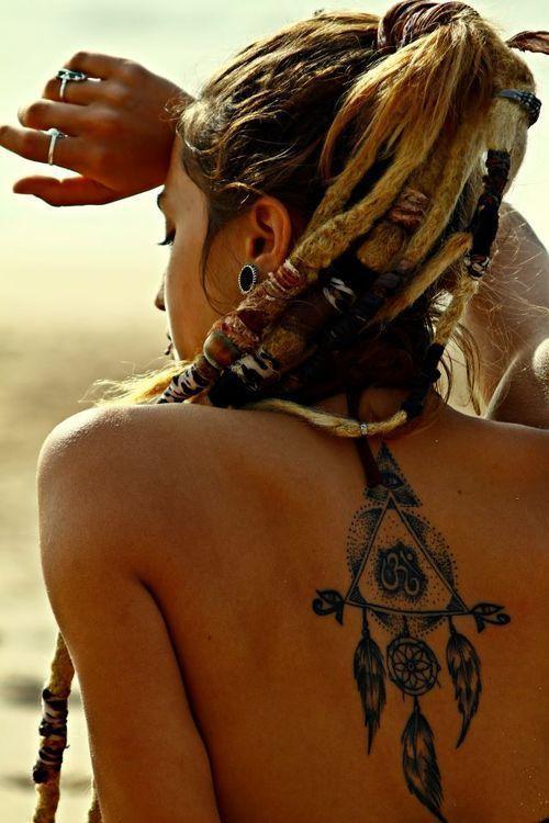 Bohemian dreamcatcher tattoo