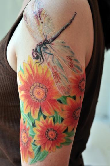 dragonfly tattoo on sleeve design of tattoosdesign of tattoos. Black Bedroom Furniture Sets. Home Design Ideas