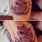 Owl tattoo for girls