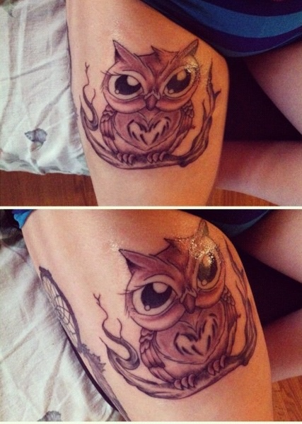girly owl tattoo design of tattoosdesign of tattoos