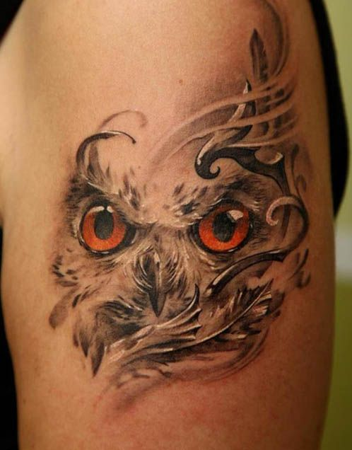 Owl tattoo great design