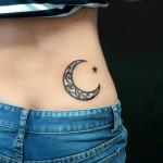 Star tattoo on hip